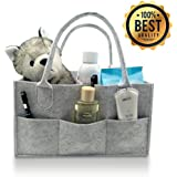 Baby Diaper Caddy Organizer - Felt Nursery Diaper Basket...