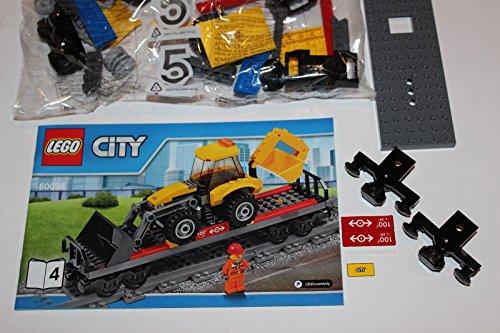 LEGO City Heavy Haul Train-60098- Flat Car with Backhoe Only-Book 4 - Train Flat Car