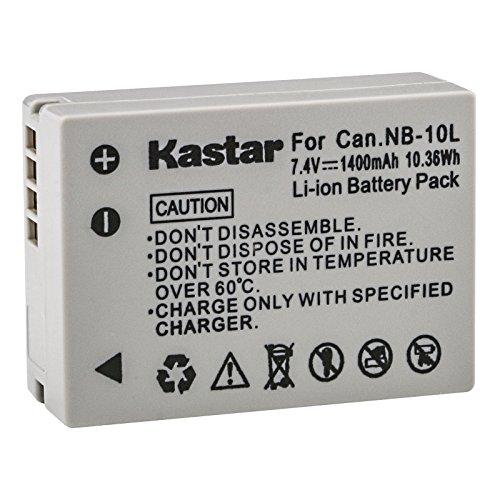 Kastar New 7.4V 1400mAh Recharger Li-ion Battery for Canon NB-10L