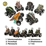 Aptoys Pull Back Dinosaur Cars 6-Pack Non-Toxic Plastic...