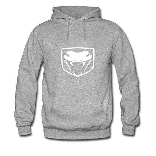 men-dodge-viper-logo-attractive-hoodies-grey-x-large