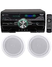 Technical Pro DV4000 4000w - Receptor de DVD para Cine en casa (Incluye 2 Altavoces de 8 Pulgadas)