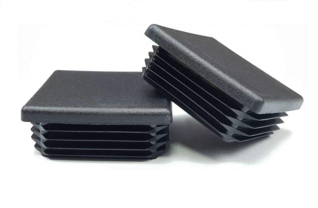 OGC (6 Pack) - 3'' Black Square Tubing for Plastic Plugs by 3 x 3 inch Cap Cover Tube Chair Glide Insert Finishing Plug