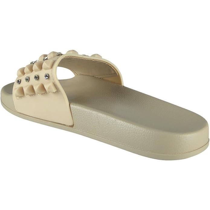 Damen Bequem Ebene Gummi Zucht Schieber Schuhe Rutschen Hausschuhe Größe 36-41  (40, 921d8b0244