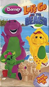 barney lets go to the beach vhs movies tv. Black Bedroom Furniture Sets. Home Design Ideas