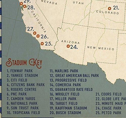 Baseball Adventures Push Pin USA Travel Map Art | Passion Missions