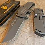 New USMC MARINES Warlord GREY Titanium Folding Blade Rescue Pocket Eco'Gift LIMITED EDITION Knife with Sharp Blade Great For Fun and Practical Use!