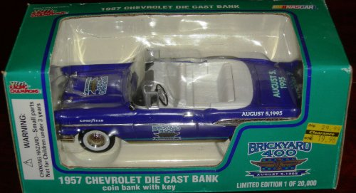 Racing Champion (Racing Champions Brickyard 400 1957 Chevy Chevrolet Die Cast Bank 1/24 Scale)