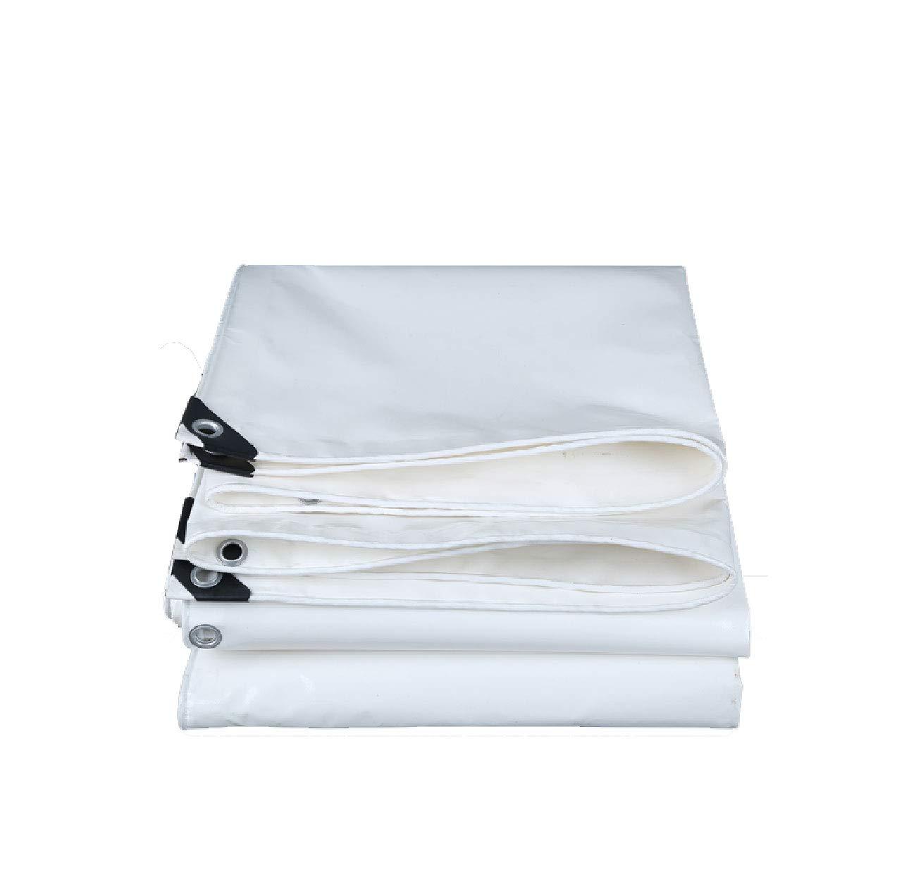 Wqewreytyuo Regenproof Tuch, Dicker weißer Plane regendichtes Tuch Sun-Plane Markisenstoffsonnenschirm-Segeltuchregenstofföl-Tuchplane im Freien