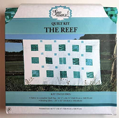 (It's Sew Simple Quilt Kit The Reef Complete Quilt Top with Binding)