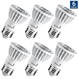 506 led bulb - Hyperikon PAR16 LED Bulb, 8W (50W Equivalent 540 lumen, 4000K (Daylight Glow) CRI90+, Spot Light Bulb, Medium Base (E26), Dimmable, UL & ENERGY STAR - Great for Kitchen, Basement, Outside (6 Pack)
