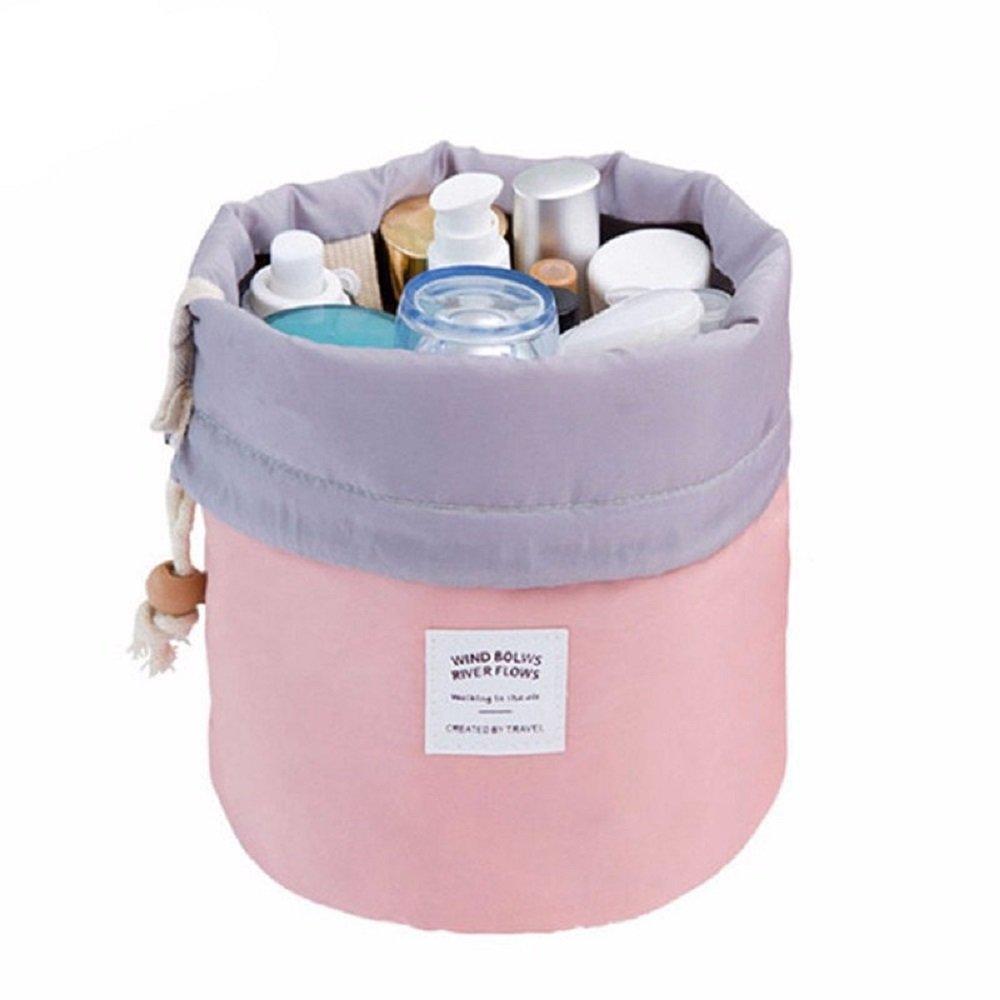 Ducomi® Clio - Beauty Case da Viaggio e da Borsa per Donna - Secchiello per Cosmetici e Prodotti Igiene e Bellezza - Dimensioni 23 x 23 x 17 cm (Pink) 0647903003815
