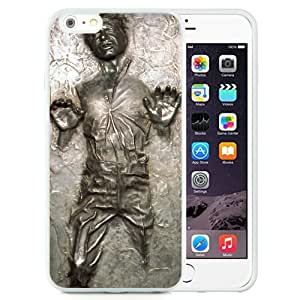 Han Solo Frozen In Carbonite White Abstract Design Custom iPhone 6plus 5.5 Inch TPU Case