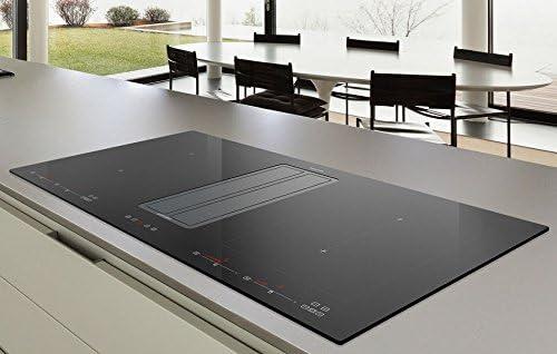 Campana extractora de mesa con placa de inducción FLEX, 9 niveles de potencia, potenciador (potencia de potencia), Kompaak One IX-BLACK 820/86 cm, 100% fabricado en Italia: Amazon.es: Grandes electrodomésticos