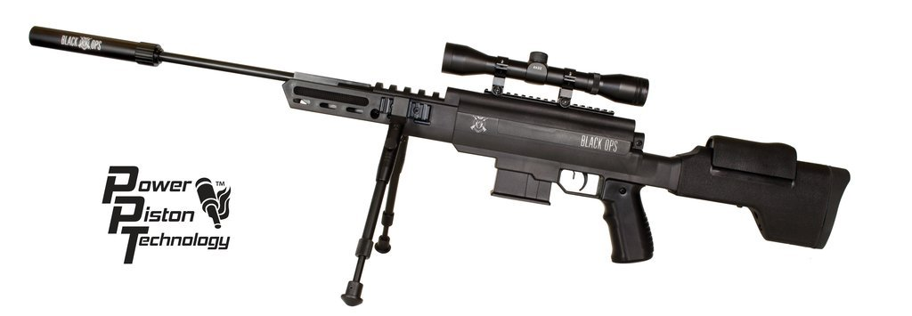 Black Ops Power/ Gas Piston Sniper Air Rifle .177 Ammo Scope Included