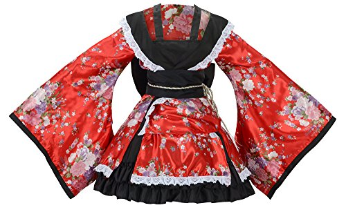 (Sheface Women's Cosplay Lolita Fancy Dress Japanese Kimono Anime Costumes (XXX-Large, P02 Red))
