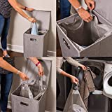 BirdRock Home Single Laundry Hamper with Lid and