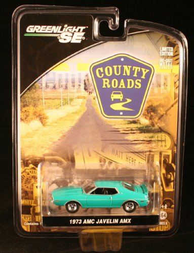 Amx Javelin (1973 AMC JAVELIN AMX * COUNTY ROADS SERIES 6 * 2011 Greenlight 1:64 Scale Limited Edition Die-Cast Vehicle)