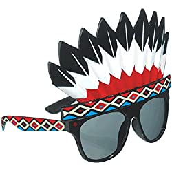 Amscan Stylish Birthday Party Indian Headdress Funshades Accessory, Plastic,