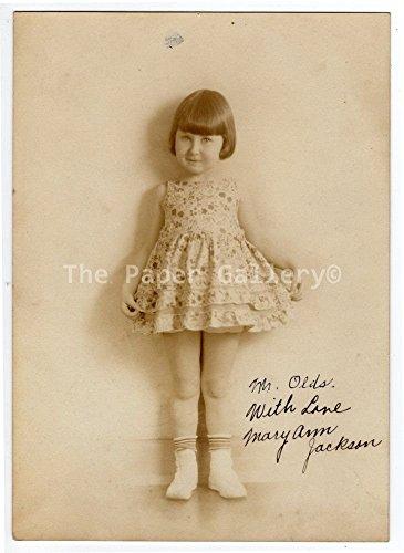 Autograph 5x7 Photograph of Mary Ann Jackson~95006