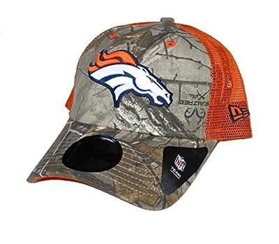 Denver Broncos New Era Camouflage Snapback Fluorescent Mesh Back Adjustable Hat Cap from New Era Cap Company, Inc.
