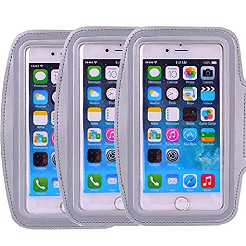 3Pack Universal Armband for Apple iPhone 7, 7 Plus,5c 5s 6 6s Plus, LG G5,Samsung Galaxy S 4 S III,Note 5 4 3 Edge S4 S5 S6 LG G3 G4 G5 Blackberry HTC One Nexus 4 5 Slim Fit case not for iphone 4 (Android S4 Privacy Screen)