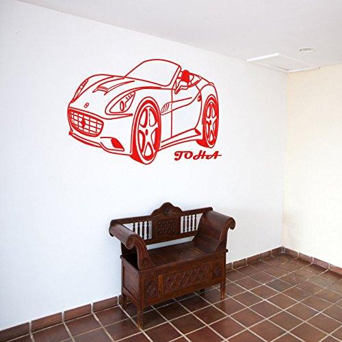Ferrari California Wall Art Sticker CAR Personalised Name Removable Vinyl - Matte Ferrari