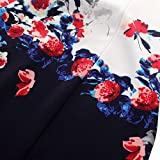 Chicwe Women's Plus Size Cap Sleeves Stretch Floral