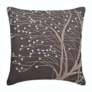 Amazon.com: Diseñador café almohada cubierta, yute & Madre ...