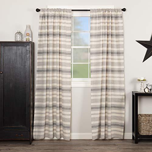 (Piper Classics Farm Market Panel Curtains, Set of 2, 84