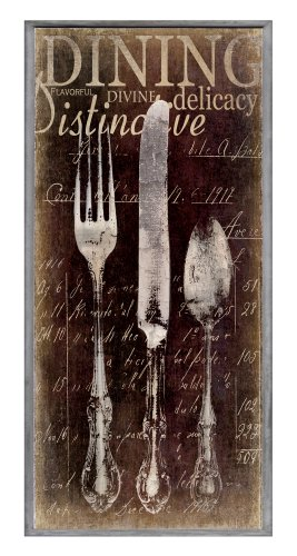 The Stupell Home Decor Collection Decor Collection Oversized Vintage Fork, Knife, Spoon Wall Plaque, Brown ()