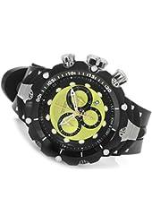 Invicta Mens Reserve Venom Gen II Swiss Made Quartz Lime Dial Rubber Strap Watch