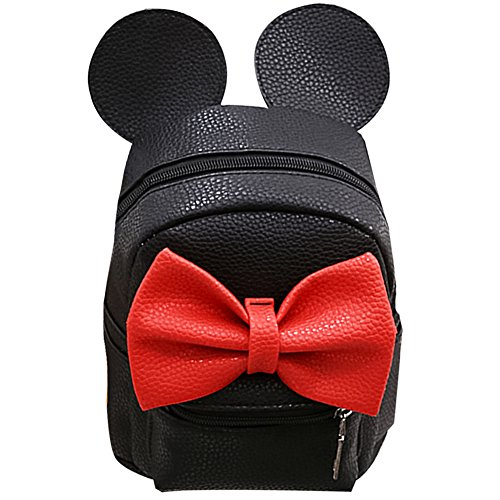 Women Kid Girls Cartoon PU Leather Mouse Ear