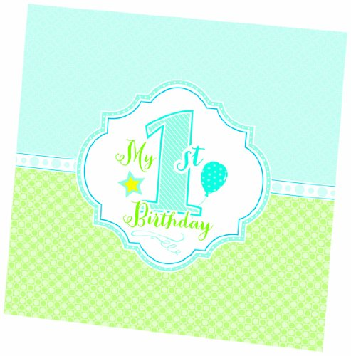 "Lillian Rose 1st Birthday Keepsake Memory Book, Blue, 7"""