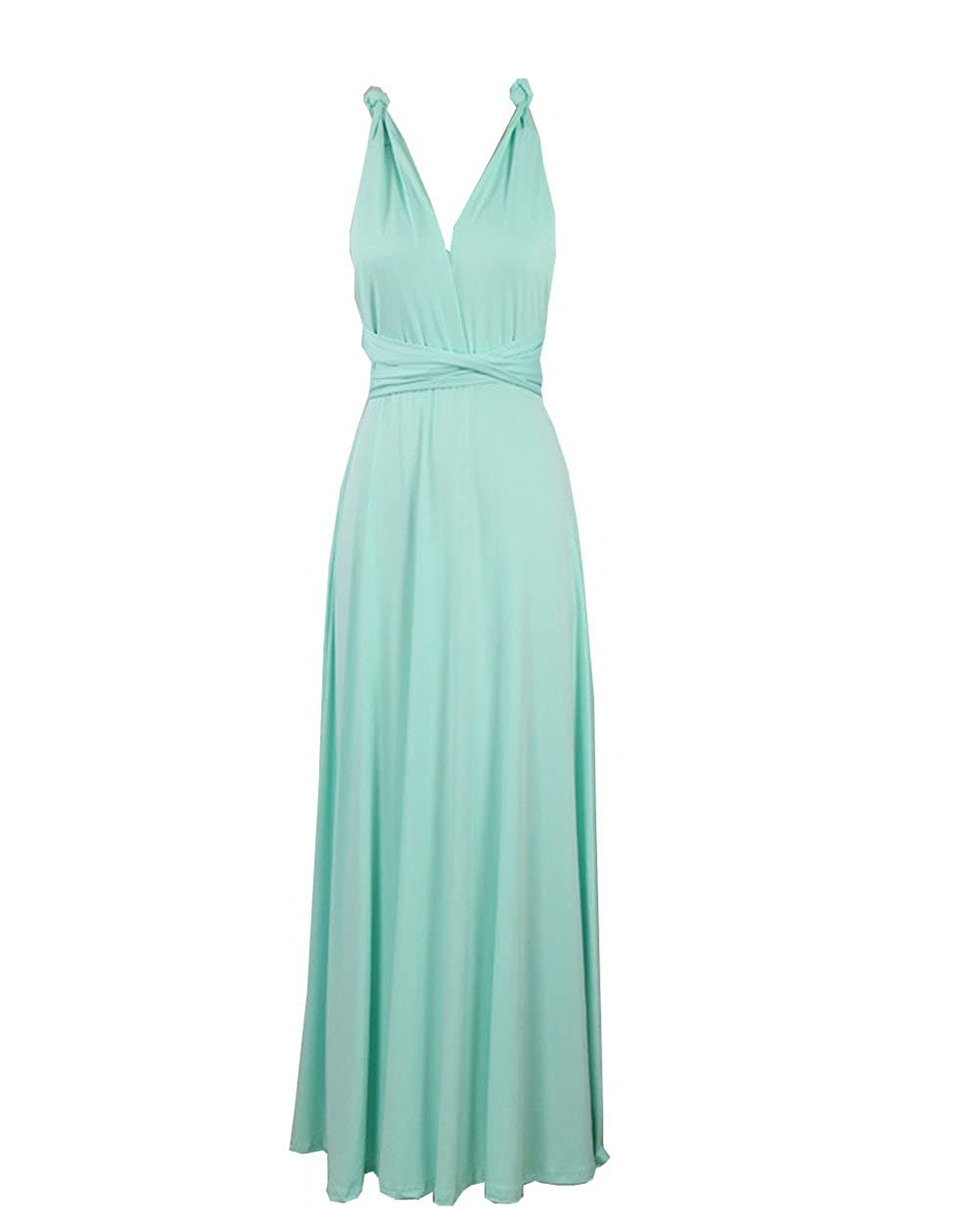 Women's Long Maxi Dress Convertible Wrap Cocktail Gown Bandage Bridesmaid Dress