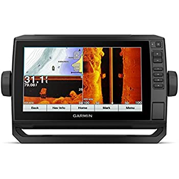 "Garmin ECHOMAP Plus 93sv with Transducer, 9"" Keyed Assist Touchscreen Chartplotter/Sonar Combo with Chirp Traditional, ClearVu and SideVu Scanning Sonar Transducer and Built in LakeVu HD Inland maps"