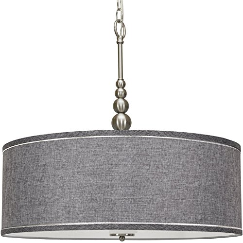 Clear Glass Drum Pendant Light