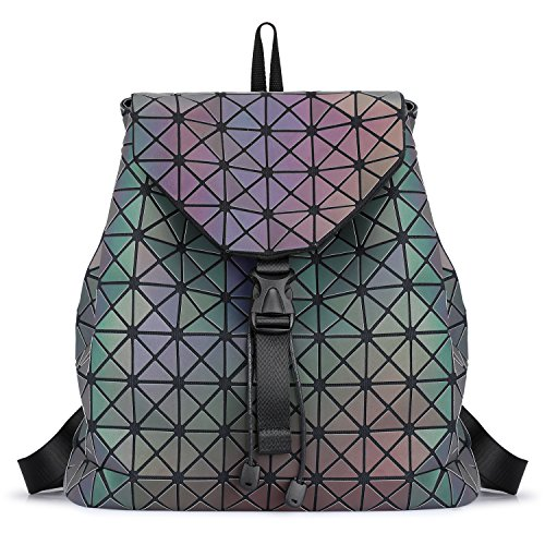 SAMSHOWME Fashion Women Luminous Flash Backpack Casual Travel Backpack Purse Large Capacity