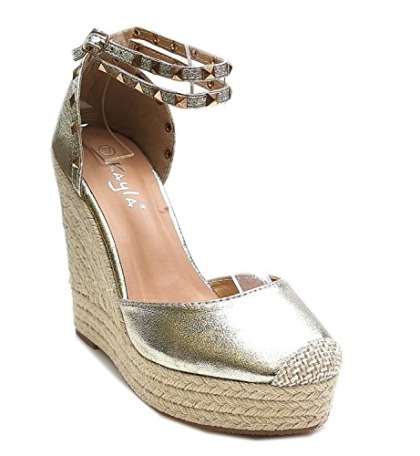 Mujer Sandalias King Shoes Of dorado wqtXOwHZx