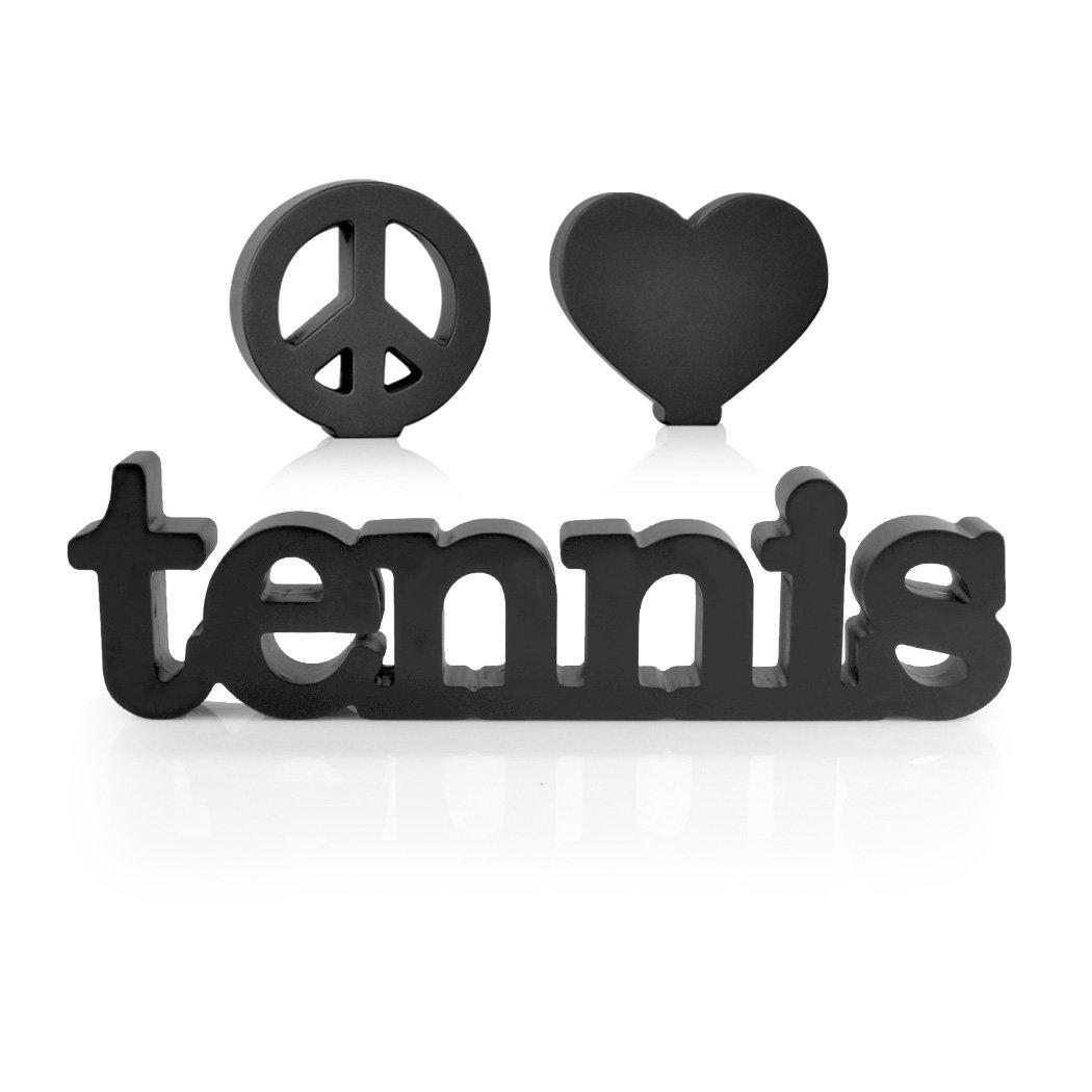 Peace Love Tennis Wood Word   Wood Words by ChalkTalk SPORTS   Room, Shelf and Desk Décor
