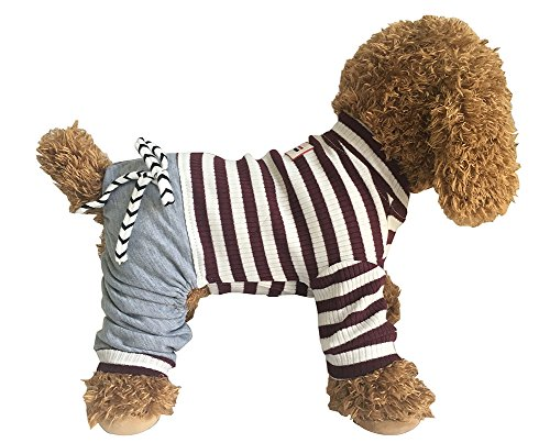 EastCities Dog Clothes for Small Dogs Pajamas Puppy Outfit,Brown L