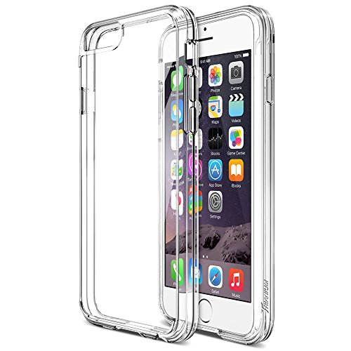 iPhone 6 Case, Trianium [Clear Cushion] Protective Apple iPhone 6 Clear Case (4.7-Inch) [Scratch Resistant] Seamless Integrated Shock-Absorbing Bumper Cases Hard Back Panel - Clear (TM-IP601-CLR)