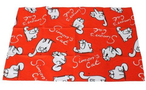 Simons Cat Geschirrhandtuch, viele Katzen rot