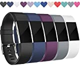 Wepro Replacement Bands for Fitbit Charge 2 HR, Buckle, 5 Colors, Small