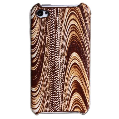 wortek Schutzhülle Apple iPhone 4 / 4S Hardcase Holzoptik Braun (harte Rückseite)