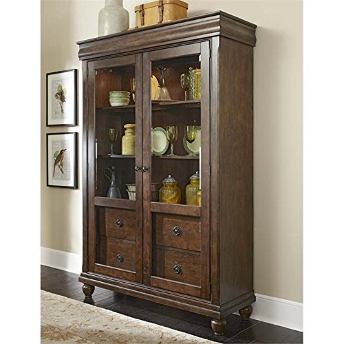 Liberty Furniture Rustic Tradition Dining Display Cabinet, Rustic Cherry Finish (Cabinet Finish Cherry China)