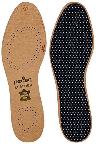 Pedag 172 Leather Naturally Tanned Sheepskin Insole with Activated Carbon, Tan, US M10/11 EU (Best Pedag Insoles)