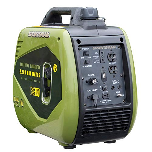 Sportsman 4,400/3,600-Watt Dual Fuel LPG/Gas Powered Recoil Start Portable Digital Inverter Generator Kit with Parallel Cable Kit Uncategorized