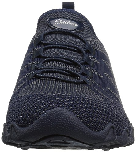 Skechers Mujeres Bikers-knit Happens Sneaker Navy