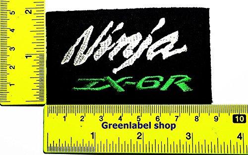 Ninja Kawasaki Motorbike Motorsport Motorcycles Biker Racing Patch Logo Sew Iron on Embroidered Appliques Badge Sign Costume Send Free - Costume Bike